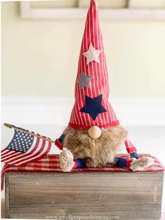 Learn how to make gnomes with arms and legs for the 4th of July. These patriotic gnomes with arms and legs are a fun addition to your Independence Day decor. But really this step by step tutorial will show you how to make gnomes with arms and legs for any season! Christmas Gnome, Christmas Stockings, Christmas Crafts, Christmas Ideas, How To Make Socks, Crafts To Make, Arts And Crafts, Gnome Tutorial, Easy Fall Wreaths