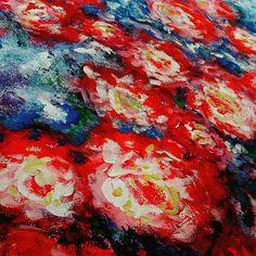 Living room wall _ flowers