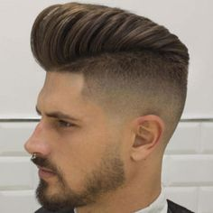 20 Pompadour hairstyles for men. List of 20 modern pompadour hairstyles to try this season. Best pompadour hairstyles and haircuts for men. Best Fade Haircuts, Mens Hairstyles Fade, Hipster Hairstyles, Undercut Hairstyles, Cool Hairstyles, Short Haircuts, Modern Hairstyles, Popular Haircuts, Latest Hairstyles