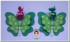 Porta Pirulito Borboleta Verde Friendship Day Cards, Confetti, Alice, Gadgets, Christmas Ornaments, Holiday Decor, Gifts, Ideas, Lollipop Decorations