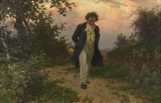 Beethoven's love letters to his immortal beloved - Lettere d'amore di Beethoven all'amata immortale, 1812 - Julius Schmid Vienna Museum, Fine Art Prints, Canvas Prints, Thing 1, Romanticism, Walking In Nature, Love Letters, Classical Music, Orchestra