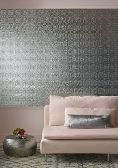 Find inspiration with our living room ideas, shop our high quality range of wallpaper designs that are perfect for a lounge refresh. Get free delivery available direct from Graham & Brown. Bathroom Wallpaper Trends, Tile Wallpaper, Wallpaper Ceiling, Brown Wallpaper, Metallic Wallpaper, Bedroom Wallpaper, Wallpaper Ideas, Yellow Bathrooms, Large Bathrooms