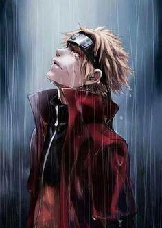 Naruto (Toad Sage in rain). My absolute favorite Naruto illustration. Anime Naruto, Sad Anime, Manga Anime, Naruto Sad, Art Naruto, Art Manga, Anime Guys, Naruto Crying, Kawaii Anime