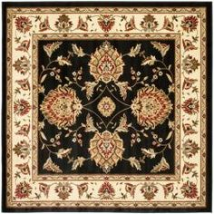 Shop for Safavieh Lyndhurst Tabriz Black/ Ivory Rug (6'7 Square). Get free shipping at Overstock.com - Your Online Home Decor Outlet Store! Get 5% in rewards with Club O!