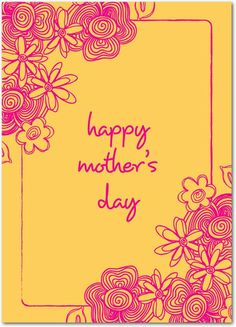 Traditional Tribute - Mother's Day Greeting Cards in Fuchsia | Design Collective