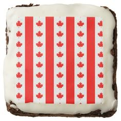 Canadian flag pattern brownie