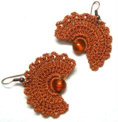 Crochet Fan Earrings......