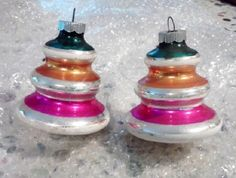 Vintage Shiny Brite Ornaments Mid Century by FingerLakesFinds, $28.00