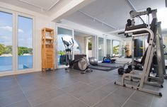 Home gym with a view by Pin & Pin. http://www.pinandpin.hr