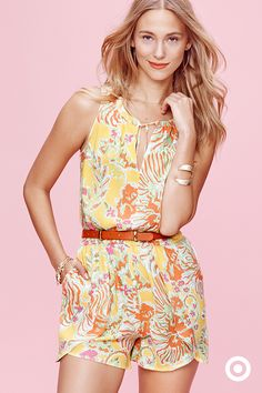 This Lilly Pulitzer for Target one-piece romper is an instant summer-wardrobe enhancer. The casual tulip hem and keyhole neckline give it that easy, summer party vibe for grad parties, getaways or backyard soirées. Make it yours on April 19.