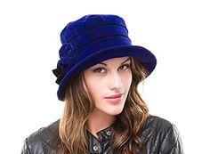 Ladies Blue Velvet Winter Cloche Style Hat Rosie: Amazon.co.uk: Clothing Love Hat, Blue Velvet, Amazon, Purple, Lady, Winter, Clothing, Style, Fashion