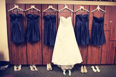 Bridesmaids and Bride dress shot. photo by: Danielle #minneapolisweddingphotographer