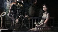 """Alice: Madness Returns wallpaper -- """"Purrrrfect. When you're not on edge, you're taking up too much space."""""""