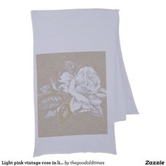 Light pink vintage rose in light fade sepia shades scarf