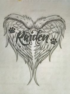 Sketch of memorial tattoo for my dog, by tattoo artist Ron Carr