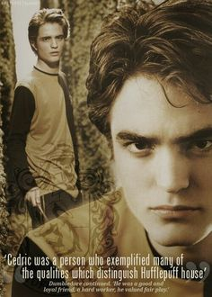 I was in love with Rob when he was Cedric, Edward ruined him for me.