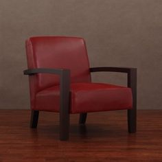@Overstock - Add a big splash of color with this edgy burnt red leather lounge chair. This comfortable lower profile lounge chair with arm rests and a wooden base adds pizazz to any room. The leather is treated with a polyurethane coating to keep it looking great.http://www.overstock.com/Home-Garden/Roadster-Burnt-Red-Leather-Lounge-Chair/2616449/product.html?CID=214117 CAD              275.03