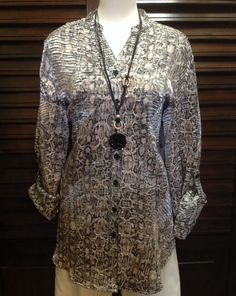 Erin London - Button up multicolor shimmer tunic  - $78
