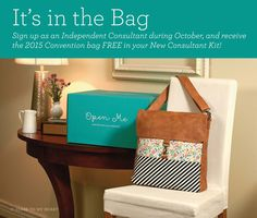 Become a Close to My Heart Consultant in October and get this adorable tote in addition to our fantastic Starter Kit for only $149! #ctmh #newconsultant #scrapbook #directsales #stamp #papercraft