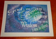 Unique arrangement of SERENITY PRAYER extends across image of The Love of God at Work in the Universe by Susan Driver Dysfunctional Family Quotes, Prayer For Protection, Addiction Quotes, Serenity Prayer, Star Flower, Prayer Cards, Vintage Christmas Ornaments, Cool Cards, Sober