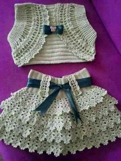 How to knit dress for kids
