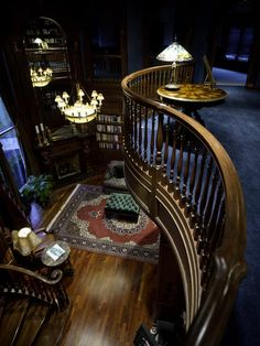 Definitely will gave a antique theme two story office/library for my hubby