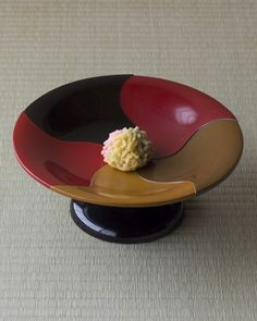 Japanese sweets on a lacquer plate from Meiji era (1868~1912)