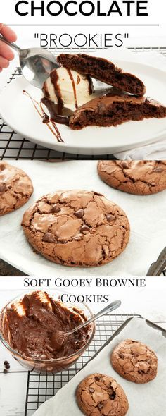 Masterchef Chocolate Brookie Recipe - Gooey Chocolate Brownie on the inside and crisp chocolate chip cookie on the outside. Recipe for conventional cooking and Thermomix.