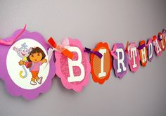 Dora The Explorer Birthday Party  Centerpieces  Set by farmerbaby, $10.00