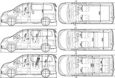 Nissan NV200 Vanette templates views