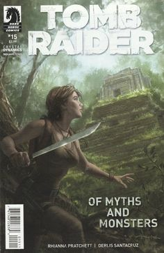 Of Myths And Monsters __Written by Rhianna Pratchett. Art by Derliz Santacruz and Andy Owens , Cover by Andy Park ,While using the cover of a fake documentary about the legendary Chupacabra, Lara and