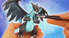 Mega Charizard X Pokemon - Polymer Clay Tutorial #megacharizard #charizard #pokemon #fimo #polymerclay