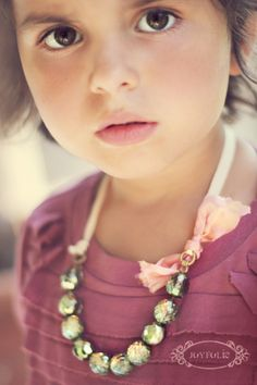 So happy I have a little girl! DIY - old bracelet made into a pretty little necklace!