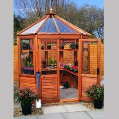 These popular octagonal greenhouses make a fantastic feature in the garden, where looks are just as important as growing. Available in a range of sizes and cladding to suit. Toughened glass as standard.