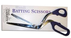 Oh my I so cute use these!  By the time I'm done cutting with regular scissors my hand is tired and hurts and my scissors are not happy with me.  Handi Batting Scissors #HandiQuilter