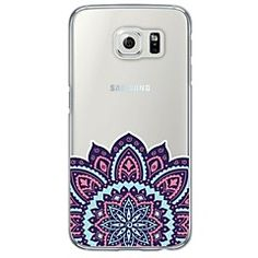 ca079e4f8f3 [$3.99] Blue and Pink Printing Pattern Soft Ultra-thin TPU Back Cover For  Samsung GalaxyS7 edge/S7/S6 edge/S6 edge plus/S6/S5/S4
