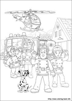 HEAPS of Fireman Sam printable colouring in pages. Not to self - print lots!