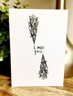 I miss you card missing you unique illustraded miss you card