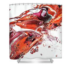 Abstract Fragment Shower Curtain by Jenny Rainbow. This shower curtain is made from polyester fabric and includes 12 holes at the top of the curtain for simple hanging. The total dimensions of the shower curtain are wide x tall. Curtains For Sale, Shower Curtains, Home Art, Rainbow, Abstract, Drawings, Simple, Artist, Artwork