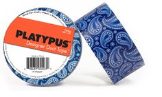 Never thought I would covet duct tape. Blue paisley from Platypus.