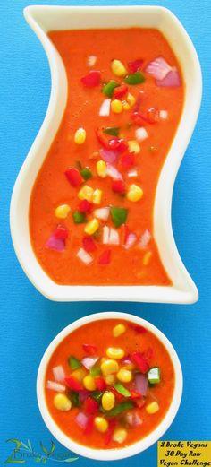 Raw Vegan Tortilla Soup: http://2brokevegans.com/raw-vegan-tortilla-soup/