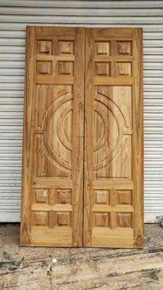 Made from well dried indian best teak. Brick Decor, Bedroom Furniture Design, Door Design Wood, Wooden Door Design, Double Door Design, Door Design Interior