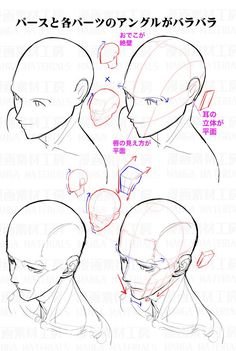 """How to draw the face in high angle view : Awkward part of face and the correcting method②"" Drawing Heads, Drawing Base, Figure Drawing, Drawing Lessons, Drawing Skills, Drawing Tips, Anatomy Drawing, Anatomy Art, Drawing Reference Poses"