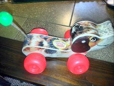 Mid Century Little Snoopy Pull Behind Dog by HouseholdTreasures2U, $9.99
