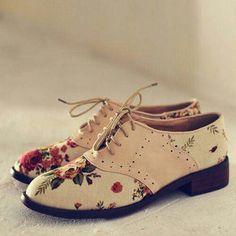 Floral shoes♥♥♥