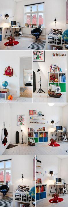 Scandinavian kids bedroom #bunnyinthewindow