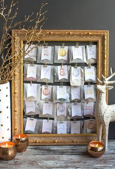 DIY Advent Calendar Foiled Gifts from MichaelsMakers Lia Griffith
