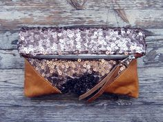 LIBRO CLUTCH  Rose Gold Shine by scoutandcatalogue on Etsy, $74.00