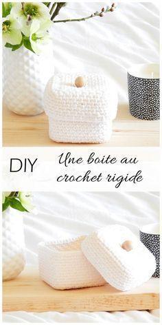 Crochet handbags 458733912039217609 - diy une boite au crochet rigide 7 Source by Crochet Hood, Crochet Shell Stitch, Crochet Diy, Crochet Beanie, Crochet Doilies, Crochet Simple, Crochet Braids, Crochet Stitches For Blankets, Knitted Blankets