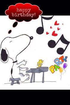 Dance to the music with Snoopy for YOUR birthday wishes. Birthday Messages, Happy Birthday Friend, Snoopy Birthday, Birthday Wishes, Happy Birthday Parties, Happy Birthday Cards, Snoopy, Friend Birthday, Birthday Pictures